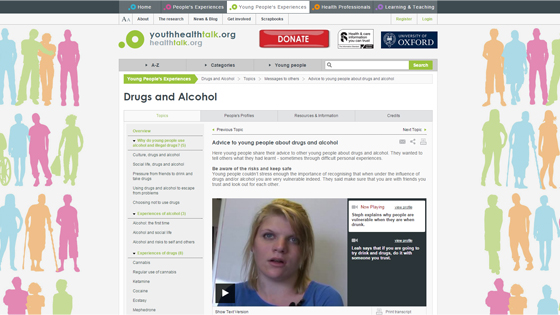 Drug Abuse Advice from Youth Health Talk
